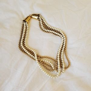 Vintage Monet pearl bead necklace